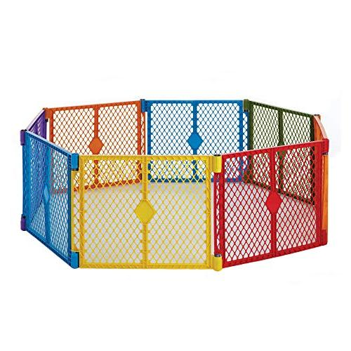 North Colorplay Yard: Safe play area - Folds with strap for Freestanding. length, sq. ft.