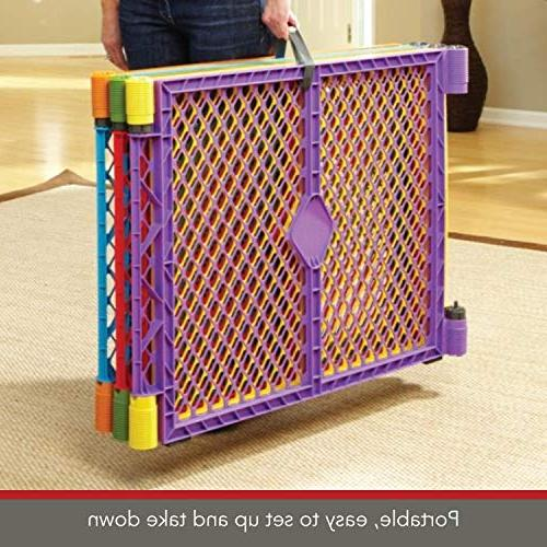 """North Colorplay Yard: Safe area - Folds carrying strap easy Freestanding. 256"""" 34.4 sq."""