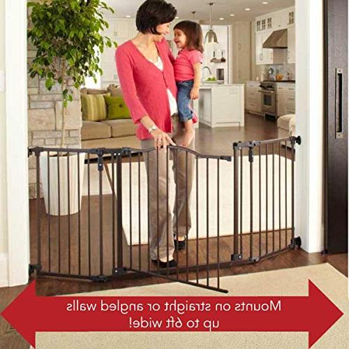"North States 72"" Deluxe Gate: Provides safety spaces Hardware 38.3""-72"" wide"