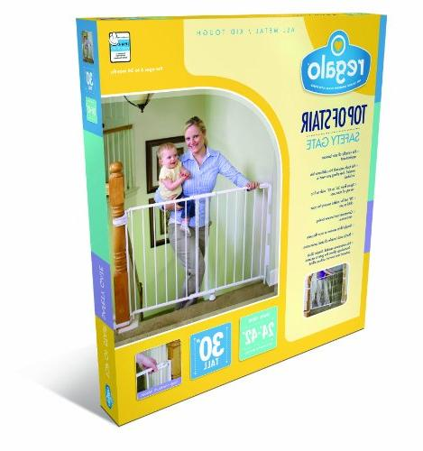 Regalo 2-In-1 Hallway Wall Mounted Baby Gate, Includes and Wall