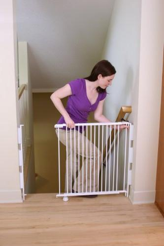 Regalo Stairway and Hallway Wall Mounted Gate, Banister and