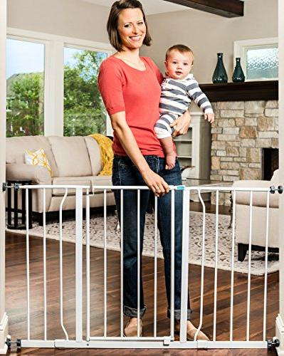 Regalo Wide 47 Inch Baby Gate, 4-Inch Kit, Mount Pack Kit