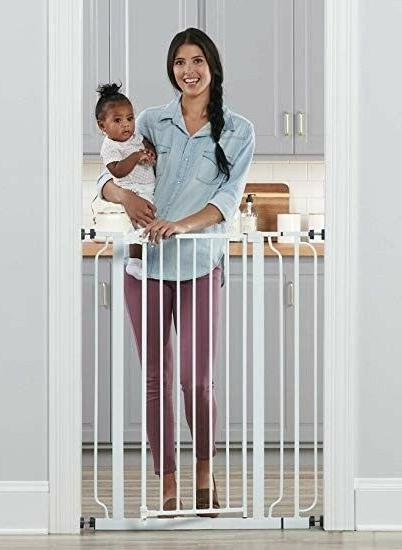 Regalo Easy Step Extra Tall Walk Thru Gate, Includes 6-Inch