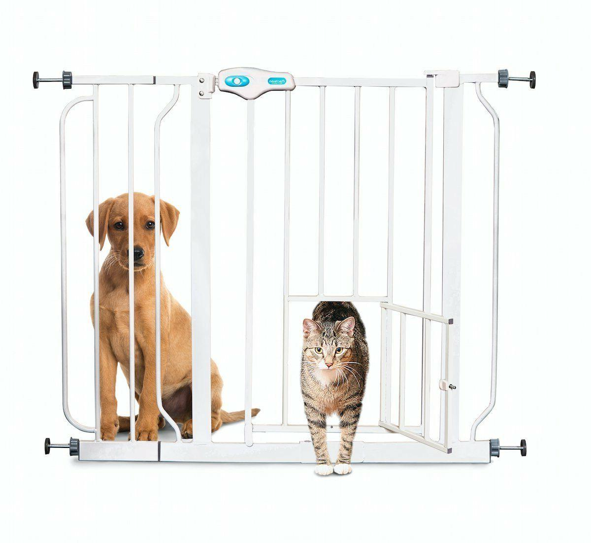 Carlson Extra Wide Walk Through Pet Gate with Small Pet Door