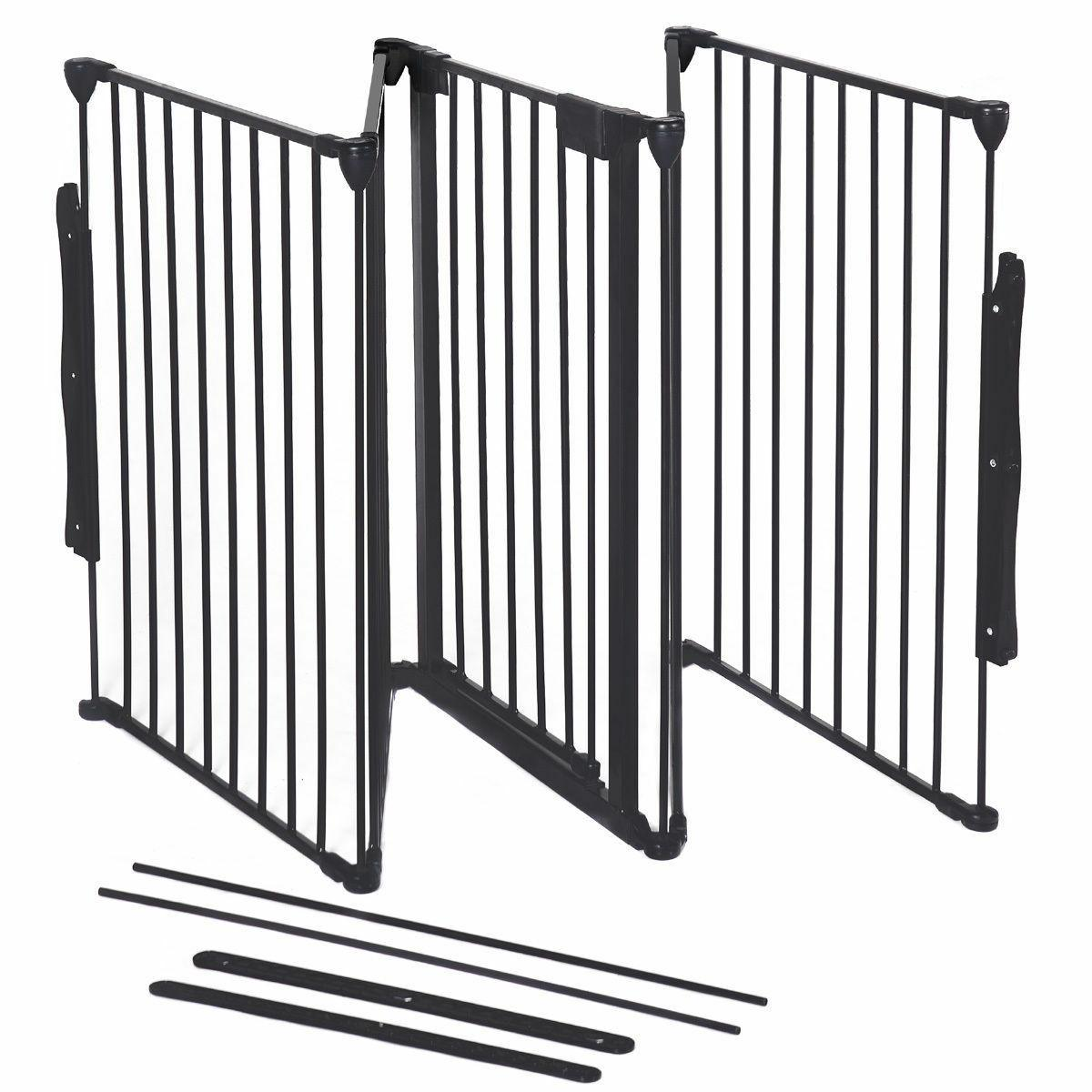 Fireplace Fence Baby Fence Metal Fire Gate Pet Dog Cat