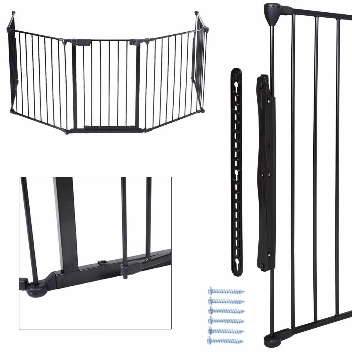 Fireplace Fence Hearth Gate BBQ Metal Fire Pet Dog