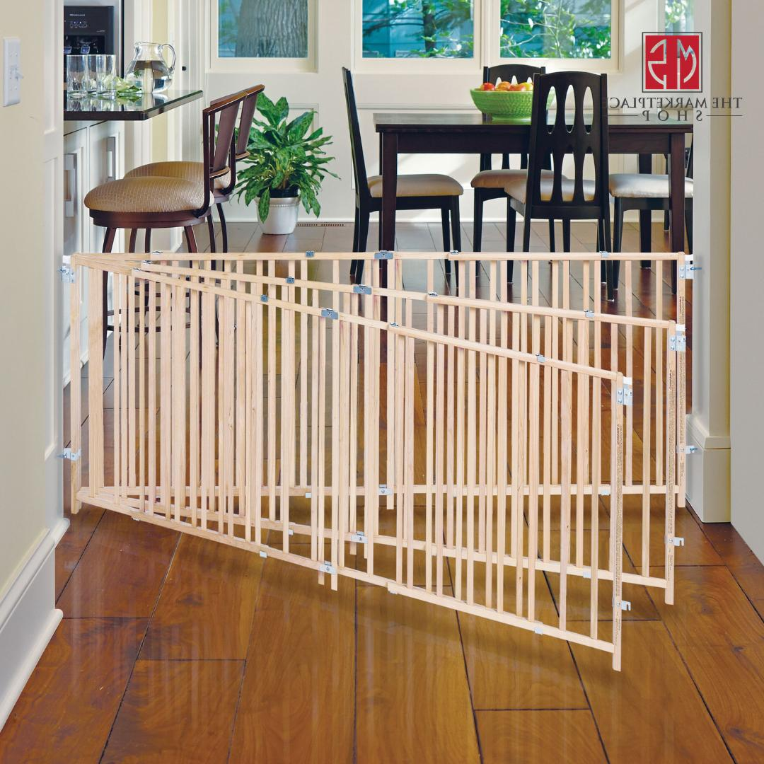 Large Baby Gate Child Dog Pet Safety Fence 5-8 Foot Extra Wi