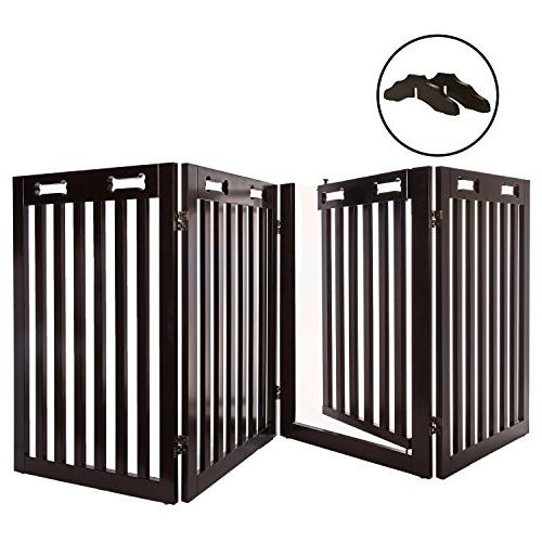 standing wood dog gate