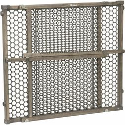 Safety 1st Vintage Wood Baby Gate with Pressure Mount Fasten