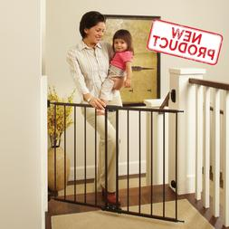 Wide Baby Safety Gate Child 2-4 Foot Large Metal Fence Stair
